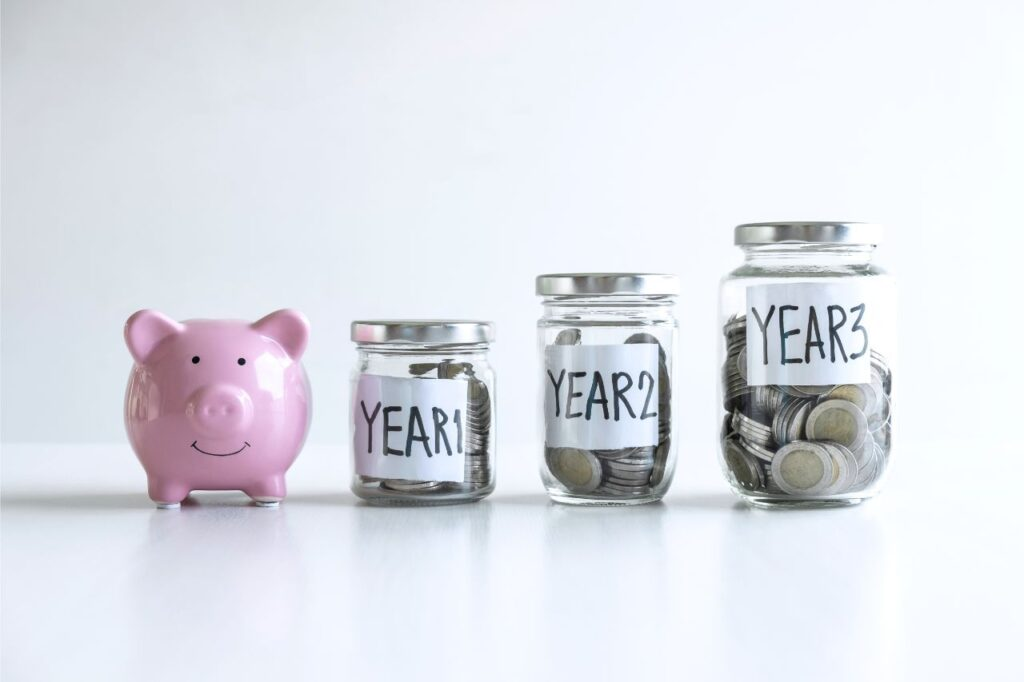 Money planned out per year