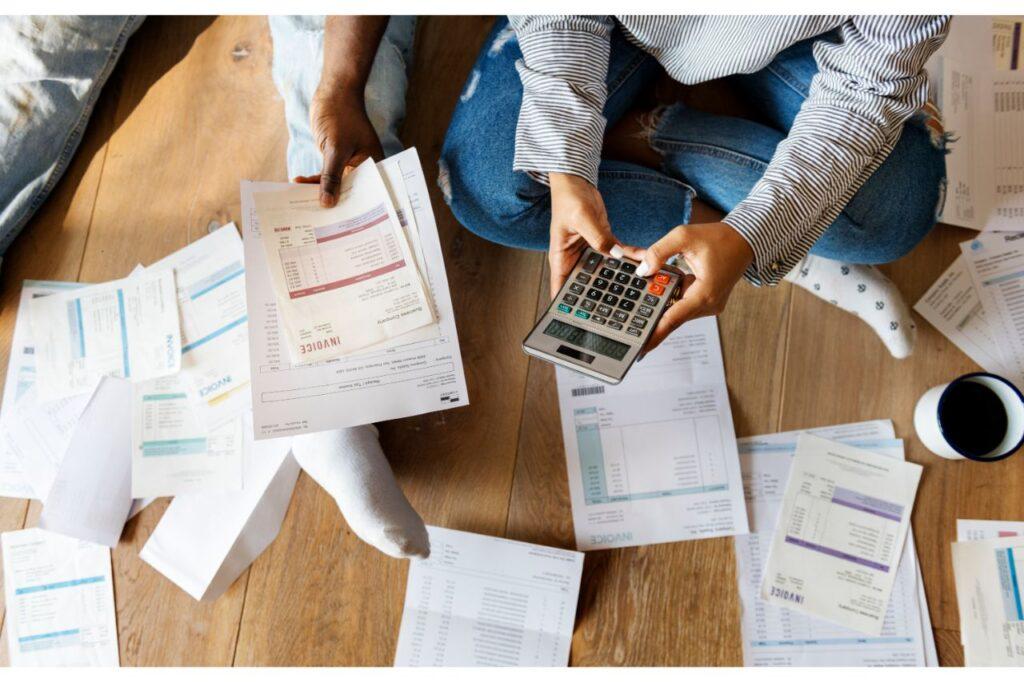 A man settling his debts and finances